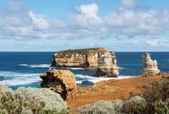 南部的维多利亚海岸线,澳大利亚 图库摄影