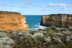 南部的维多利亚海岸线,澳大利亚 免版税图库摄影
