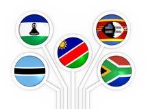 南部非洲关税同盟成员 免版税库存照片