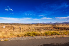 南部非洲的干旱台地高原草原 库存照片