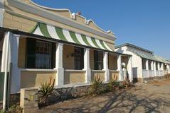 南部非洲的干旱台地高原街道城镇 库存照片