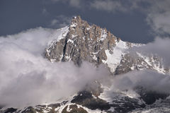 南针峰在法国 免版税库存照片