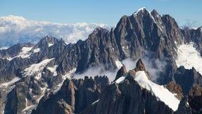 从南针峰的Aiguille Verte 图库摄影