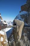 南针峰(3,842 m)是一座山在勃朗峰 免版税库存照片
