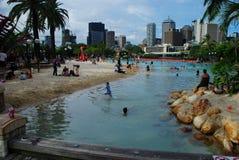 南银行的parklands 布里斯班,昆士兰,澳大利亚 图库摄影