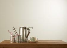 南阳样式咖啡具 免版税库存图片
