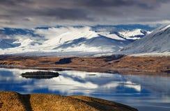 南阿尔卑斯山脉,新西兰 图库摄影