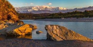 南阿尔卑斯山脉 免版税库存图片