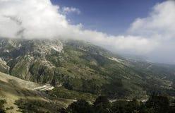 南阿尔巴尼亚巴尔干的山 免版税库存图片