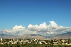 南阿尔巴尼亚, Sarande地区的山 库存图片