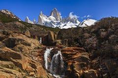 南阿根廷的风景 fitz roy 免版税库存图片