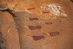 南非丛林居民岩石艺术4 库存照片