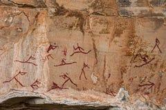 南非丛林居民岩石艺术9 免版税库存图片