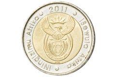 南非五垫皮硬币 免版税库存图片