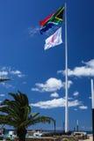 南非和乳腺癌知名度标志 图库摄影
