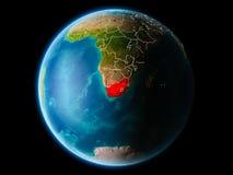 南非在晚上 免版税库存照片