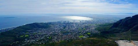 南非开普敦全景 免版税图库摄影