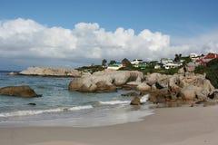 南非开普敦冰砾海滩 免版税图库摄影