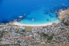 南非开普敦阵营海湾海滩 库存图片