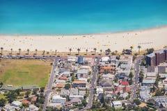 南非开普敦阵营海湾海滩 免版税图库摄影