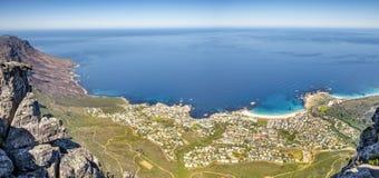 南非开普敦阵营海湾海滩 库存照片