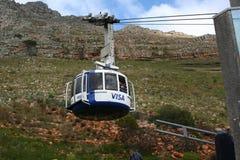 南非开普敦,桌山缆车 图库摄影