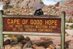 南非开普敦,桌山,海角 免版税图库摄影