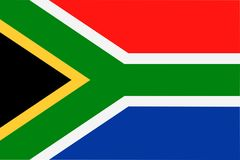 南非旗子传染媒介平的象 库存例证