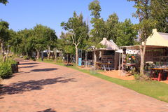 南非洲工艺的市场 库存图片