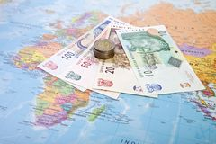 南非洲的兰特 免版税库存图片