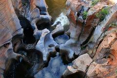 南非洲的坑洼 免版税库存照片
