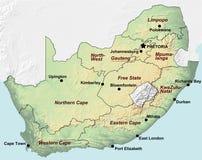 南非洲的映射 免版税库存照片