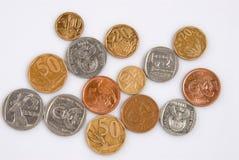 南非洲的硬币 免版税库存图片