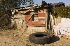 南非洲的简陋小木屋 库存照片