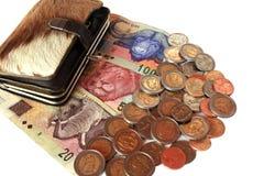 南非洲的货币 免版税库存照片