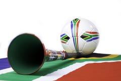 南非洲的足球 免版税库存照片
