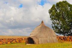 南非洲的rondavels 免版税库存照片