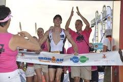 南非洲ironman的赛跑者 免版税库存照片