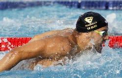 南非游泳者查德・拉・克洛斯 免版税图库摄影