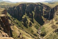 南非瀑布 库存图片