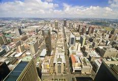 从南非的上面的约翰内斯堡地平线 免版税库存图片