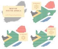 南非的地图 免版税库存图片
