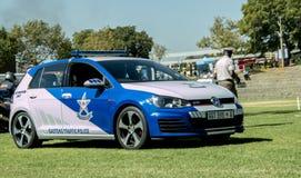南非警车 免版税库存照片