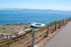 南非,开普敦,绿色点体育场从一个空中方面, UAR 免版税库存图片