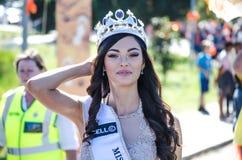 南非2017小姐缓慢的节日游行 免版税库存图片