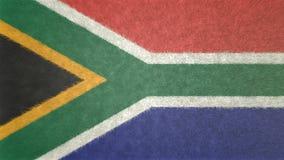 南非3D的原始的旗子图象 库存图片