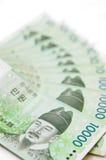 南韩国的货币 免版税图库摄影