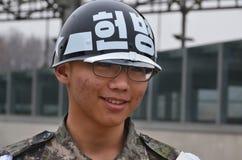 南韩文的战士 图库摄影