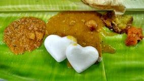 南食物的印地安人 免版税库存图片