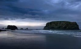 南bandon的海滩 免版税库存图片